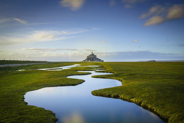 Overall winner. Mont Saint-Michel by Daniel Burton. (Photo by Daniel Burton/The Guardian)