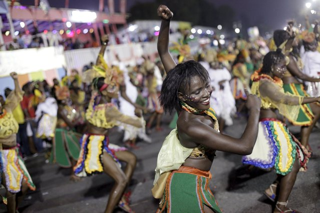 Revellers take part in the Carnival 2016 parade in Port-au-Prince, Haiti, February 9, 2016. (Photo by Andres Martinez Casares/Reuters)