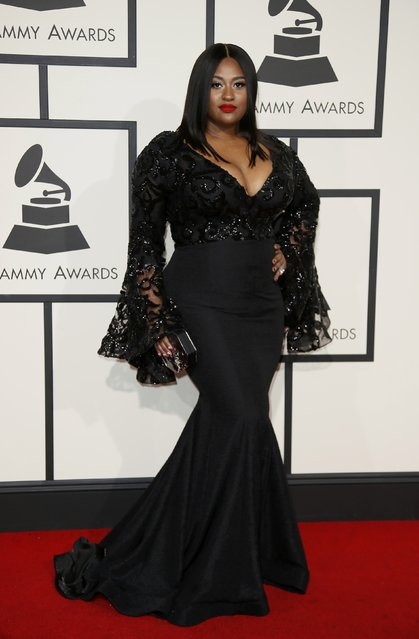 Singer Jazmine Sullivan arrives at the 58th Grammy Awards in Los Angeles, California February 15, 2016. (Photo by Danny Moloshok/Reuters)