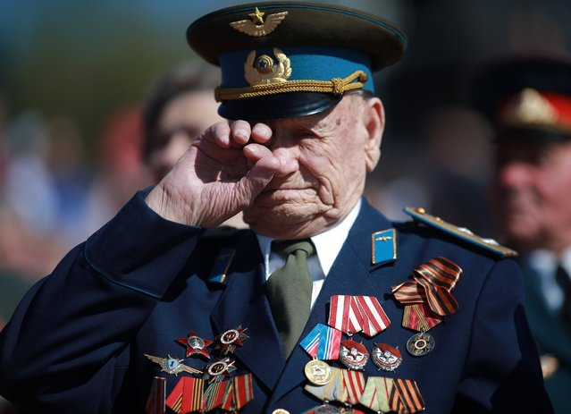 A WWII veteran during a service in Ivanovo, Russia, marking the 71st anniversary of the victory over Nazi Germany. (Photo by Vladimir Smirnov/TASS Photo via Newscom)