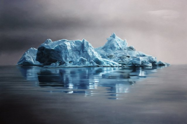 Greenland #62 47x70, soft pastel on paper. (Photo by Zaria Forman)