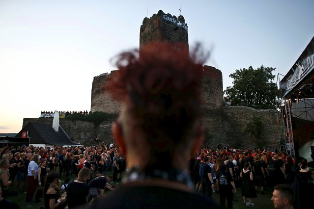 Participants of the Castle Party festival gather in front of the castle in Bolkow, southwestern Poland, July 17, 2015. (Photo by Kacper Pempel/Reuters)