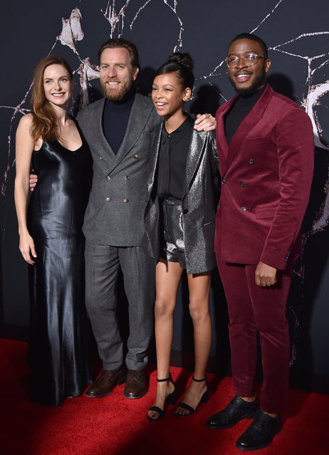 "(L-R) Rebecca Ferguson, Ewan McGregor, Kyliegh Curran and Zackary Momoh attend the Premiere of Warner Bros Pictures' ""Doctor Sleep"" at Westwood Regency Theater on October 29, 2019 in Los Angeles, California. (Photo by Axelle/Bauer-Griffin/FilmMagic)"