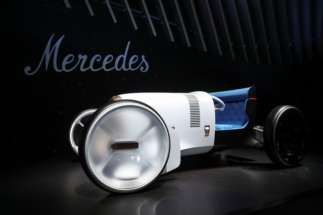 The Mercedes Simplex concept car, inspired on its original 1903 Mercedes-Simplex, is displayed at the LA Auto Show in Los Angeles, California, U.S. November 20, 2019. (Photo by Lucy Nicholson/Reuters)
