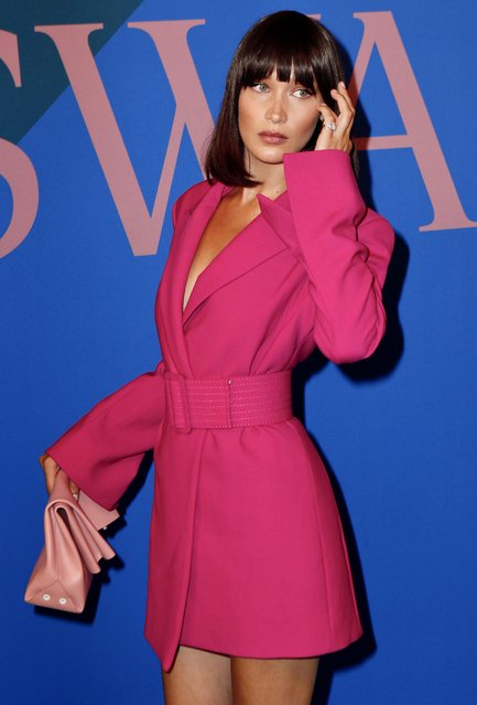 Bella Hadid attends the 2017 CFDA awards arrivals area on June 5, 2017 in New York City. (Photo by Splash News and Pictures)