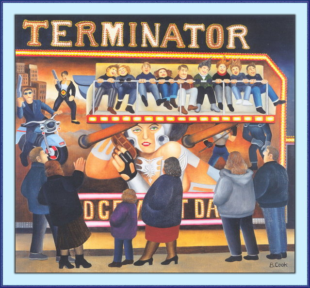 The Terminator. Artwork by Beryl Cook