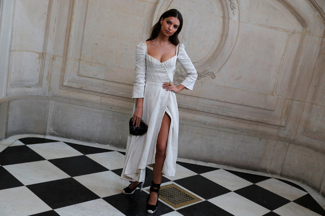 Model Emily Ratajkowski poses during a photocall before the Spring/Summer 2018 women's ready-to-wear collection show for fashion house Dior during Paris Fashion Week, France, September 26, 2017. (Photo by Philippe Wojazer/Reuters)