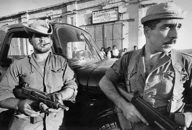 Victorious Israeli troops in Bethlehem, which they had captured from Jordan at the end of the six-day war,  on June 11, 1967. (Photo by David Newell-Smith/GNM Archive/The Observer/The Guardian)