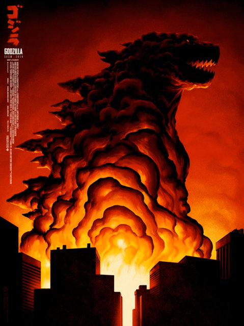 This poster for the 2014 South by Southwest Festival's celebration of the iconic movie monster Godzilla is nominated in the Festival One-Sheet category, and also in the Theatrical Illustration category. Design: Phantom City Creative, Inc., Toronto. (Photo by Key Art Awards 2014)