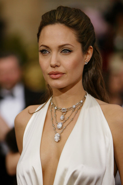 Angelina Jolie arrives for the 76th annual Academy Awards in a file photo from February 29, 2004, in Los Angeles. Angelina Jolie was Esquire's first Sexiest Woman Alive in 2004. (Photo by Joe Cavaretta/AP Photo)