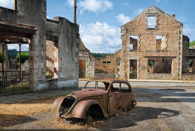 Oradour-sur-Glane, Haute-Vienne, central France. On June 10, 1944, 642 inhabitants of this village – men, women and children – were massacred by the Nazis. Officer Adolf Diekmann had been ordered to take 30 hostages to use in bargaining for the release of a German officer held by the French Resistance. Instead, he ordered the whole village be rounded up and killed, claiming retaliation for local partisan activity. An investigation was begun, but Diekmann was killed in battle shortly after. After the war President de Gaulle ordered that the village be maintained as a memorial to the massacre. (Photo by ABCDK/Depositphotos)