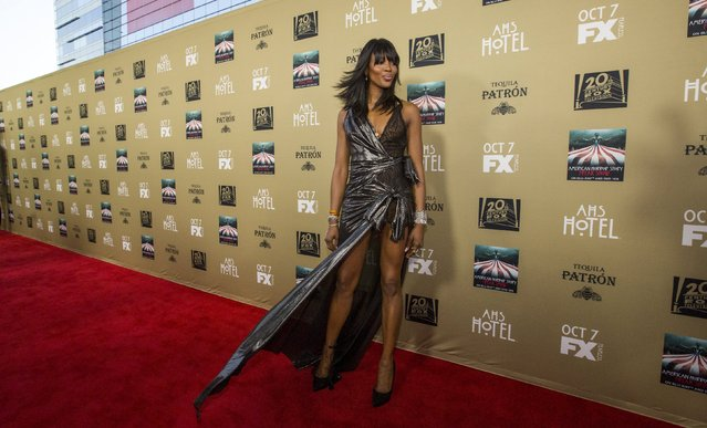 """Cast member Naomi Campbell poses at a premiere screening of """"American Horror Story: Hotel"""" in Los Angeles, California October 3, 2015. (Photo by Mario Anzuoni/Reuters)"""