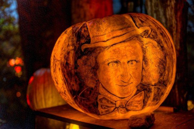 """Gene Wilder as Willy Wonka"". (Photo by Frank C. Grace/Courtesy Jack-O-Lantern Spectacular)"