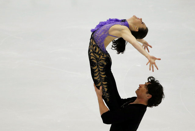 Figure Skating, ISU Grand Prix of Figure Skating NHK Trophy 2016/2017, Ice Dance Short Dance, Sapporo, Japan on November 26, 2016. Tessa Virtue and Scott Moir of Canada compete. (Photo by Issei Kato/Reuters)