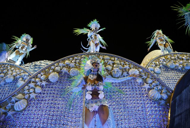 Revelers from the Portela samba school participate in the annual carnival parade in Rio de Janeiro's Sambadrome, February 16, 2015. (Photo by Sergio Moraes/Reuters)