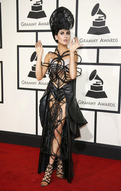 Pop artist Z Lala arrives at the 58th Grammy Awards in Los Angeles, California February 15, 2016. (Photo by Danny Moloshok/Reuters)