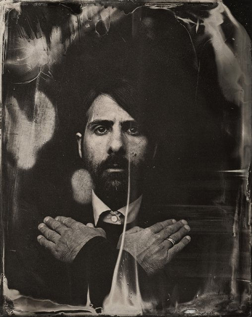 Jason Schwartzman poses for a tintype (wet collodion) portrait at The Collective and Gibson Lounge Powered by CEG, during the 2014 Sundance Film Festival in Park City, Utah. (Photo by Victoria Will/AP Photo/Invision)