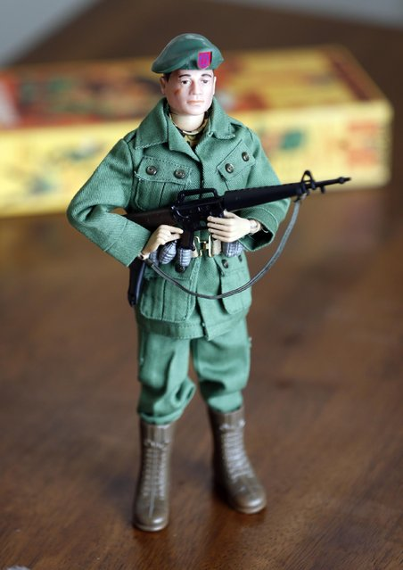 This January 31, 2014 photo shows one of Tearle Ashby's G.I. Joe action figures in Niskayuna, N.Y. (Photo by Mike Groll/AP Photo)
