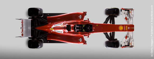 The new Ferrari F2012 Formula one car is launched online on February 03, 2012