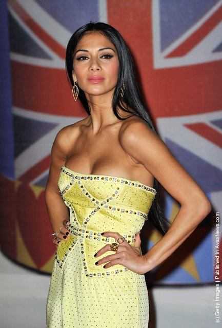 Nicole Scherzinger attends The BRIT Awards 2012 at the O2 Arena