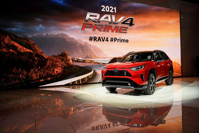 Toyota introduces its hybrid 2021 Rav 4 Prime at the LA Auto Show in Los Angeles, California, U.S., November 20, 2019. (Photo by Andrew Cullen/Reuters)