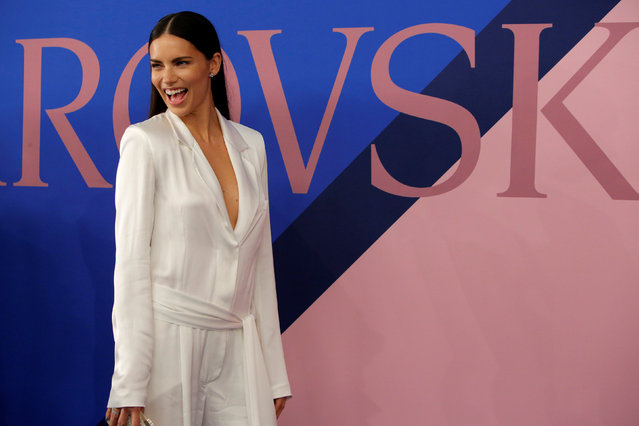 Model Adriana Lima attends the CFDA Fashion Awards in Manhattan, New York, U.S., June 5, 2017. (Photo by Andrew Kelly/Reuters)