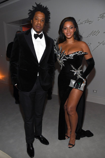 (L-R) Jay-Z and Beyoncé Knowles-Carter attend Sean Combs 50th Birthday Bash presented by Ciroc Vodka on December 14, 2019 in Los Angeles, California. (Photo by Kevin Mazur/Getty Images for Sean Combs)