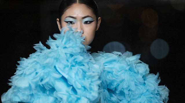 The Prabal Gurung FW20 collection is modeled during Fashion Week, Tuesday, February 11, 2020, in New York.(Photo by Eduardo Munoz Alvarez/AP Photo)