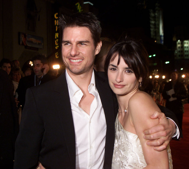 """Tom Cruise and Penelope Cruz at the premiere of """"Vanilla Sky"""" at the Chinese Theater in Los Angeles, Ca. Monday, December 10, 2001. (Photo by Kevin Winter/Getty Images)"""