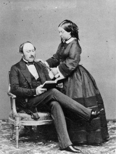 Queen Victoria and her beloved Prince Albert, the Prince Consort, at Buckingham Palace, 15th May 1860. (Photo by Keystone/Getty Images)
