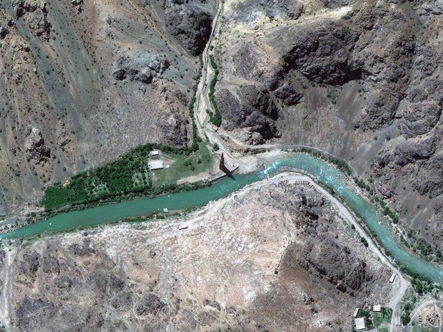 Minaret of Jam, Afghanistan. (DigitalGlobe/Caters News)