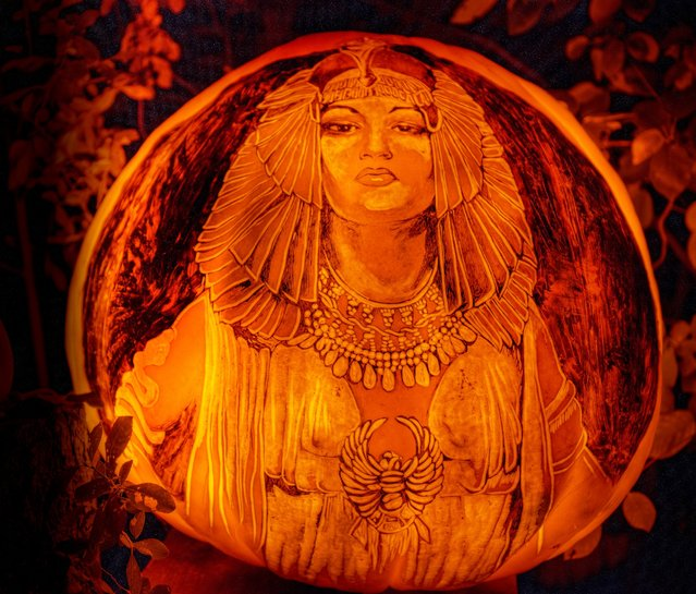 Cleopatra is one of the many themes they have on display. (Photo by Frank C. Grace/Courtesy Jack-O-Lantern Spectacular)