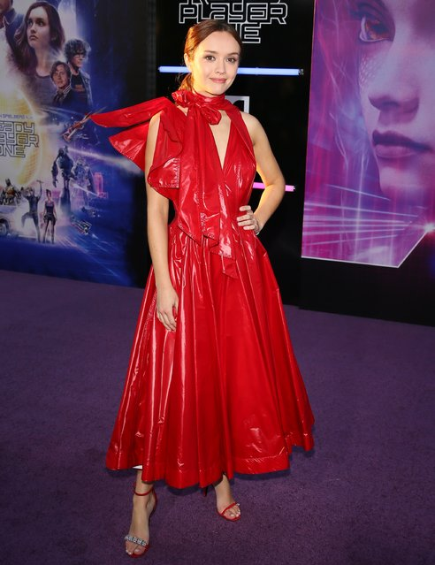 """Olivia Cooke attends the Premiere of Warner Bros. Pictures' """"Ready Player One"""" at Dolby Theatre on March 26, 2018 in Hollywood, California. (Photo by JB Lacroix/WireImage)"""