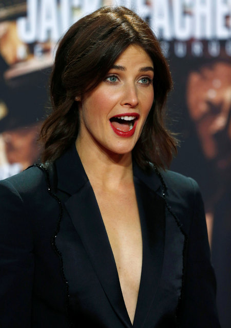 """Actor Cobie Smulders arrives for the German premiere of the film """"Jack Reacher: Never Go Back"""" in Berlin, Germany, October 21, 2016. (Photo by Hannibal Hanschke/Reuters)"""