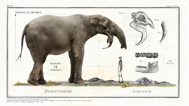 The D einotherium, a prehistoric relative of the elephant, was 4.1m high. (Photo by Sky TV/The Guardian)