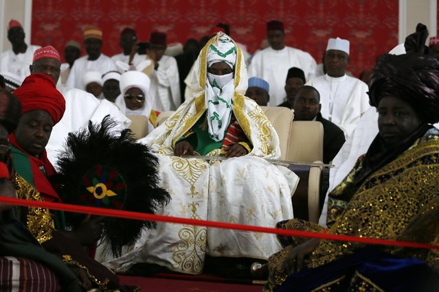New Emir of Kano Muhamadu Sanusi II (C) is pictured seated during his coronation in Kano, Kano State, February 7, 2015. (Photo by Afolabi Sotunde/Reuters)