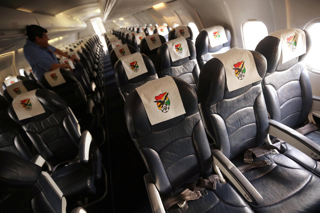 The interior of the Bolivian Lamia airlines plane, which crashed into the Colombian jungle on November 29, 2016, with the Brazilian soccer team Chapecoense onboard, is seen near Medellin, Colombia October 4, 2016. (Photo by Reuters/Courtesy of El Deber Newspaper)
