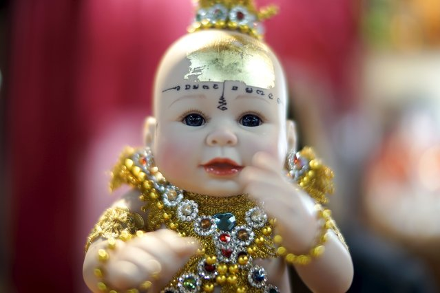 "A ""child angel"" doll is pictured at a shop inside a department store in Bangkok, Thailand, January 26, 2016. (Photo by Athit Perawongmetha/Reuters)"