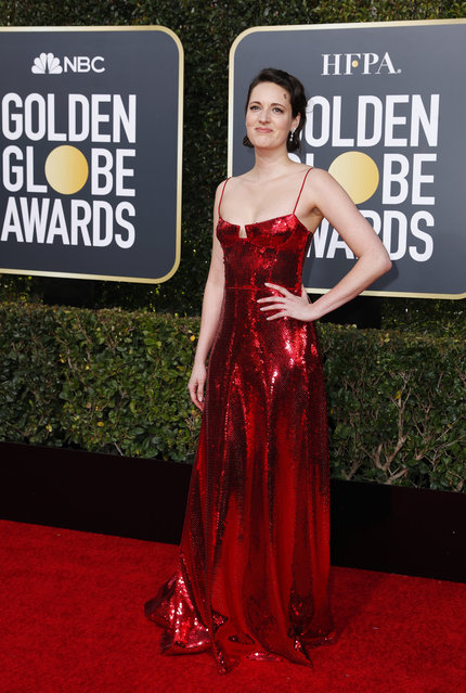 Phoebe Waller-Bridge arrives at the 76th annual Golden Globe Awards at the Beverly Hilton Hotel on Sunday, January 6, 2019, in Beverly Hills, Calif. (Photo by Mike Blake/Reuters)