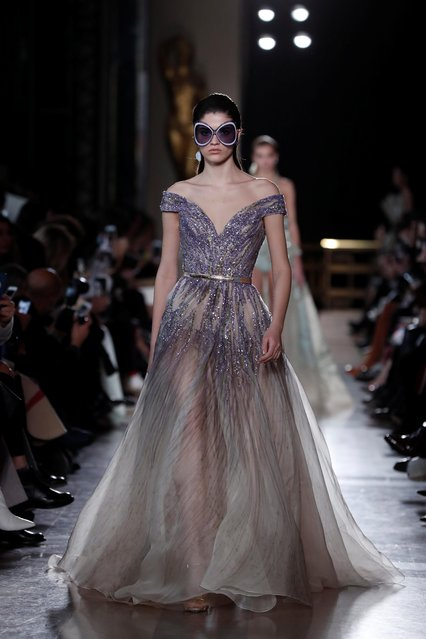 A model walks the runway during the Elie Saab Haute Couture Spring Summer 2019 fashion show as part of Paris Fashion Week on January 23, 2019 in Paris, France. (Photo by Benoit Tessier/Reuters)