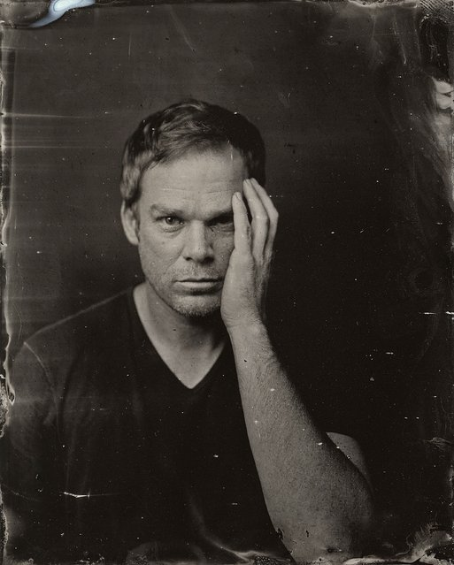 Michael C. Hall poses for a tintype (wet collodion) portrait at The Collective and Gibson Lounge Powered by CEG, during the 2014 Sundance Film Festival in Park City, Utah. (Photo by Victoria Will/AP Photo/Invision)