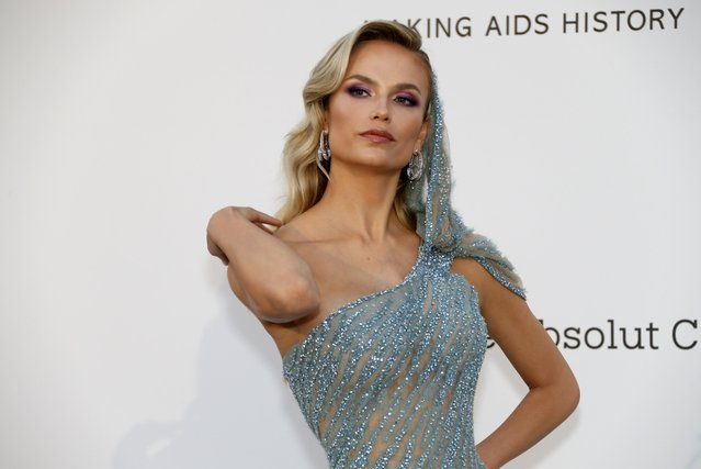 Natasha Poly poses for photographers upon arrival at the amfAR, Cinema Against AIDS, benefit at the Hotel du Cap-Eden-Roc, during the 72nd international Cannes film festival, in Cap d'Antibes, southern France, Thursday, May 23, 2019. (Photo by Eric Gaillard/Reuters)