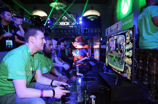 Excited fans get their hands on Rare Replay at Xbox FanFest: E3 2015 in Los Angeles on Monday, June 15, 2015. (Photo by Matt Sayles/Invision for Microsoft/AP Images)