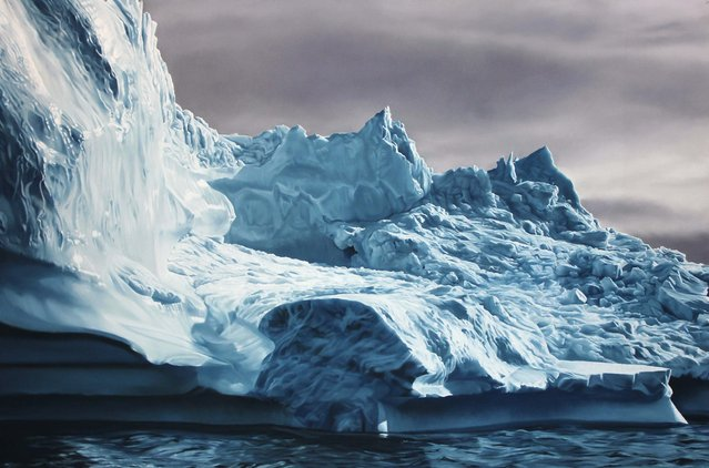Greenland #63 50x75, soft pastel on paper. (Photo by Zaria Forman)