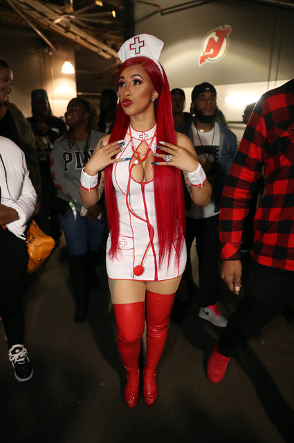 Cardi B backstage during Power 105.1's Powerhouse 2019 at Prudential Center on October 26, 2019 in Newark, New Jersey. (Photo by Johnny Nunez/WireImage)