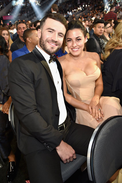 Singer Sam Hunt (L) and Hannah Lee Fowler attend the 2017 Billboard Music Awards at T-Mobile Arena on May 21, 2017 in Las Vegas, Nevada. (Photo by Kevin Mazur/BBMA2017/Getty Images for dcp)