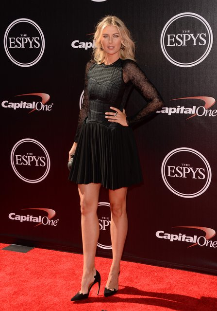 Tennis player Maria Sharapova attends The 2014 ESPYS at Nokia Theatre L.A. Live on July 16, 2014 in Los Angeles, California. (Photo by Jason Merritt/Getty Images)