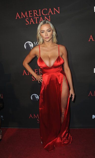 """Model Lindsey Pelas arrives for the Premiere Of Miramax's """"American Satan"""" held at AMC Universal City Walk on October 12, 2017 in Universal City, California. (Photo by Albert L. Ortega/Getty Images)"""
