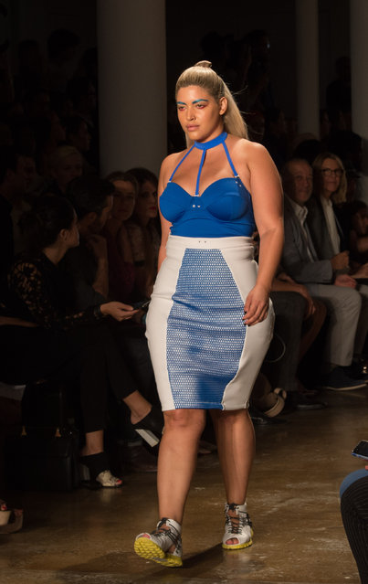 The Chromat 2016 Spring collection is modeled during Fashion Week Friday, September 11, 2015, in New York. (Photo by Bryan R. Smith/AP Photo)