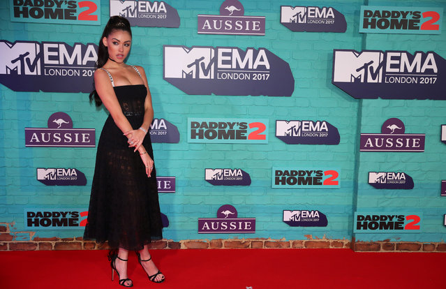 Singer Madison Beer of the U.S. arrives at the 2017 MTV Europe Music Awards at Wembley Arena in London, Britain, November 12, 2017. (Photo by Hannah McKay/Reuters)